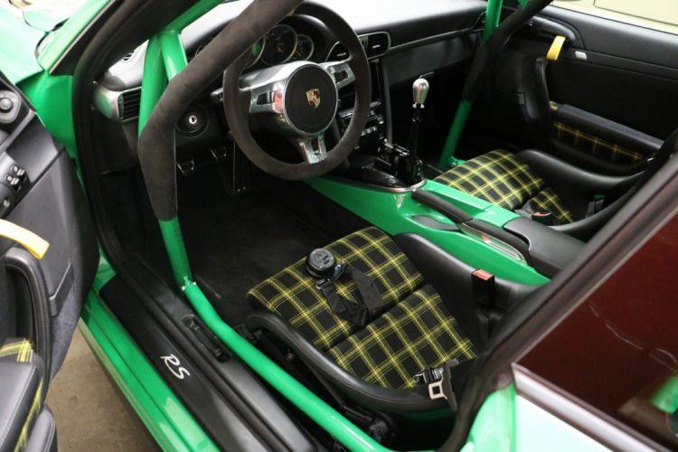 Porsche 997 GT3 RS cars green KAEGE modified wallpaper