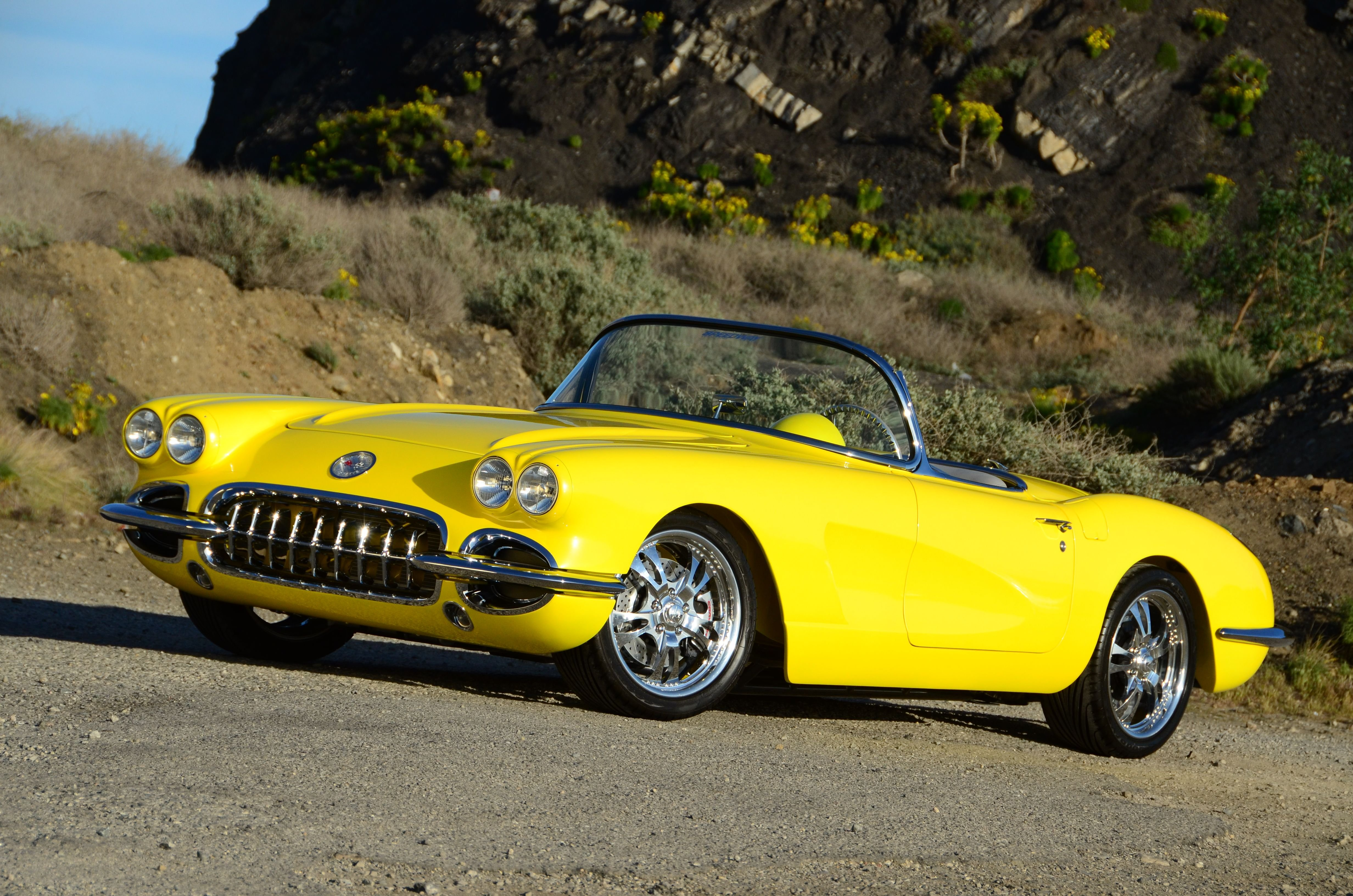 1960 Chevrolet Corvette C1 Convertible Yellow Classic