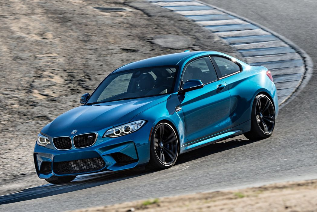 2016 BMW M2 coupe blue cars wallpaper