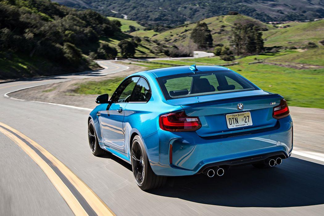 2016 BMW M2 coupe blue cars wallpaper