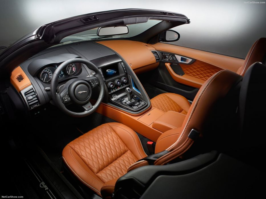 Jaguar F-Type SVR convertible cars 2016 wallpaper