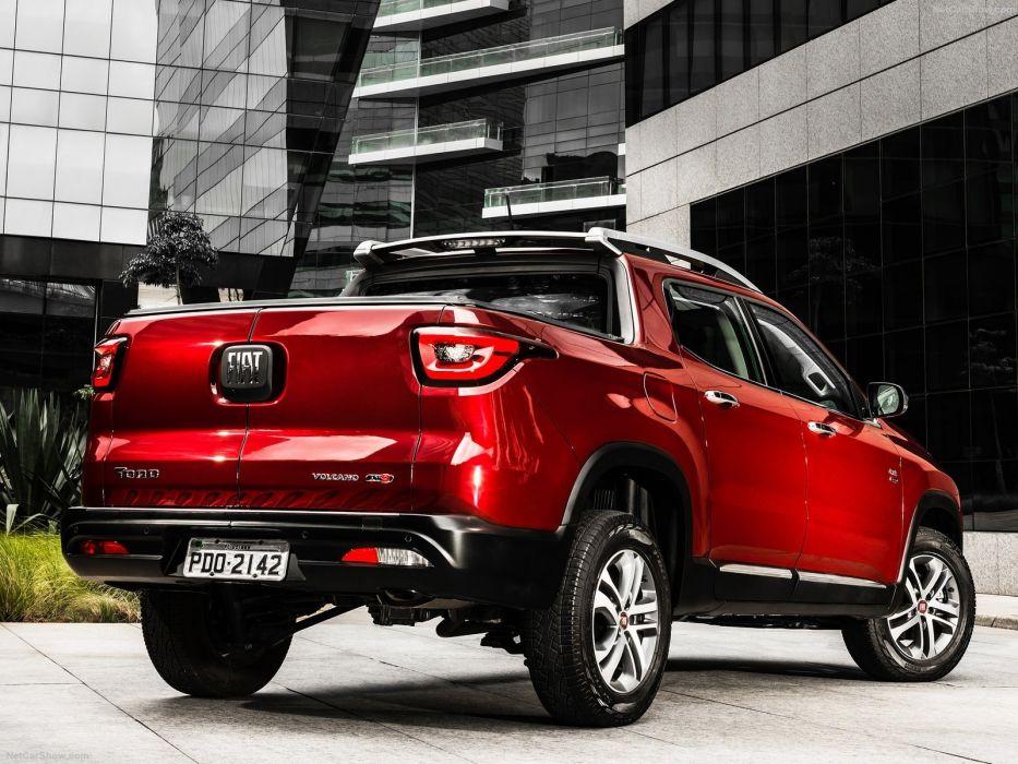 Fiat Toro pickup red cars 2016 wallpaper