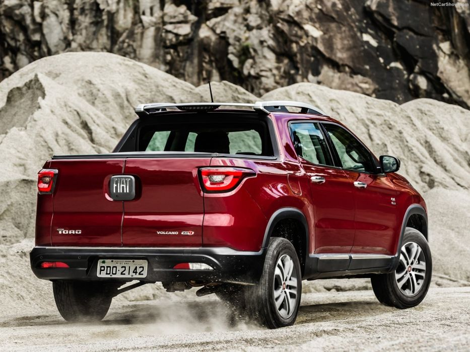 Fiat Toro pickup red cars 2016 wallpaper