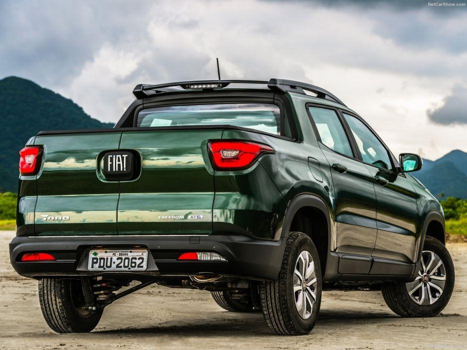 Fiat Toro pickup green cars 2016 wallpaper