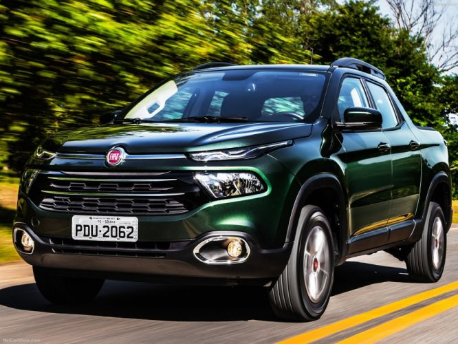 Fiat Toro pickup green cars 2016 wallpaper