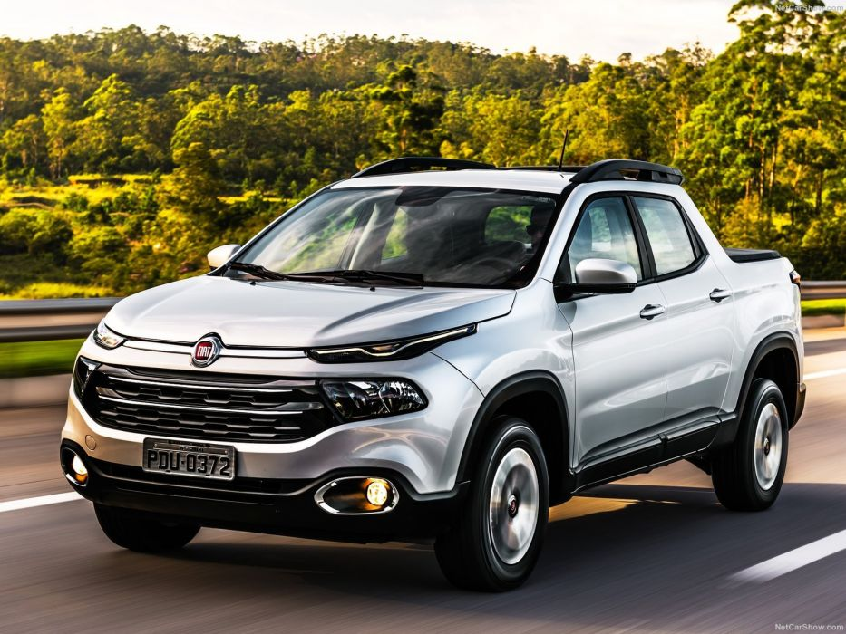 Fiat Toro pickup cars silver 2016 wallpaper