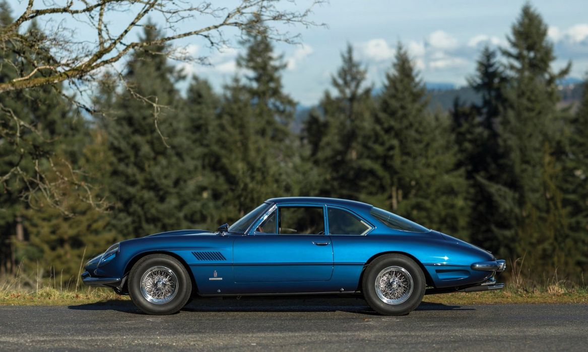 Ferrari 400 Superamerica Passo Lungo Coupe Aerodinamico cars classic blue wallpaper