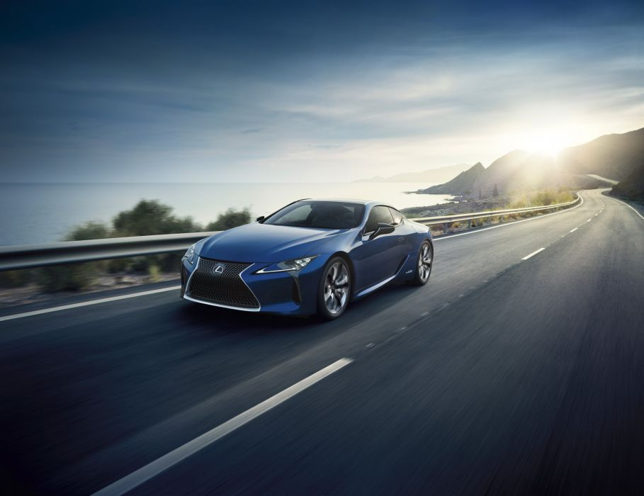 Lexus LC 500h cars 2016 blue wallpaper