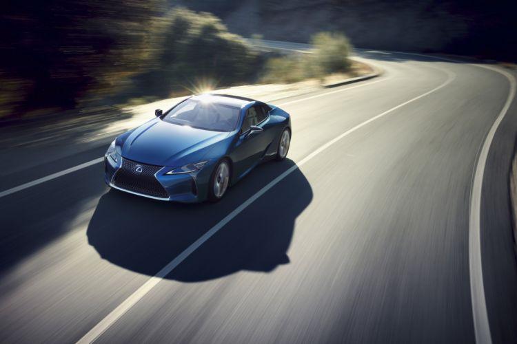 Lexus LC 500h cars 2016 blue wallpaper
