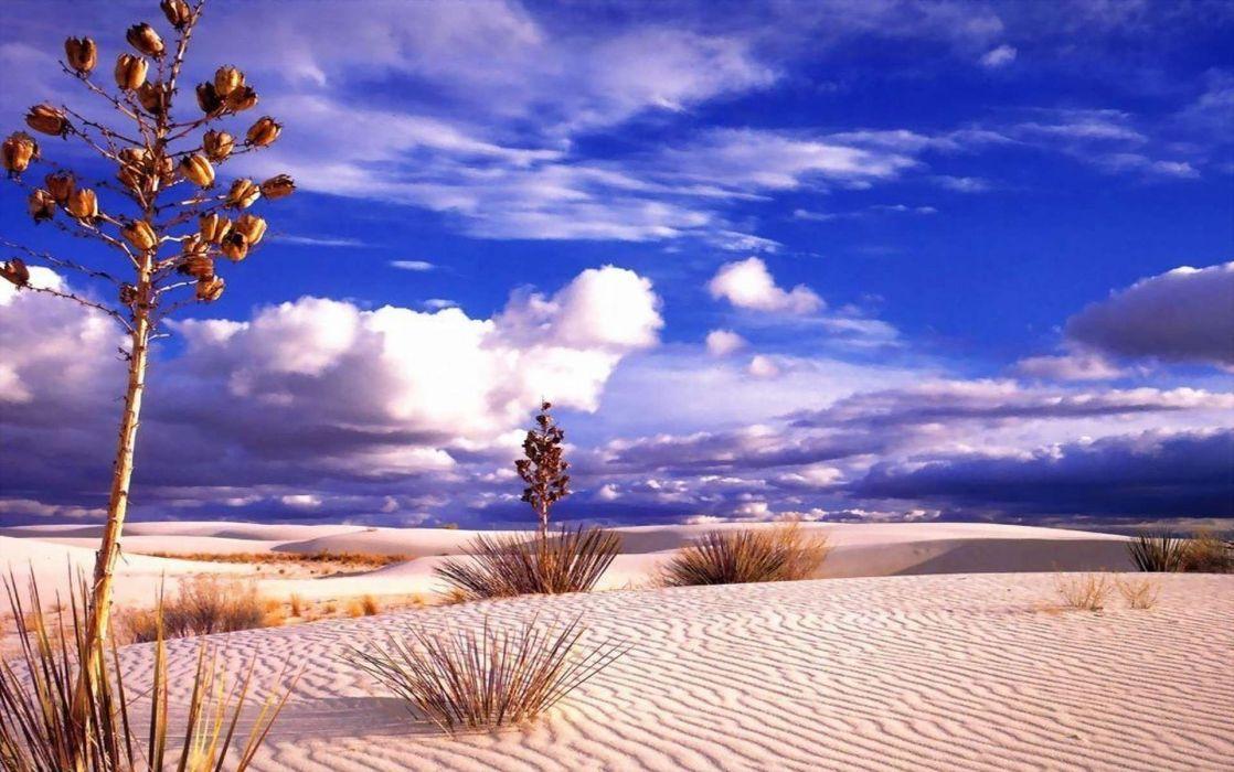 desierto arena naturaleza nubes wallpaper