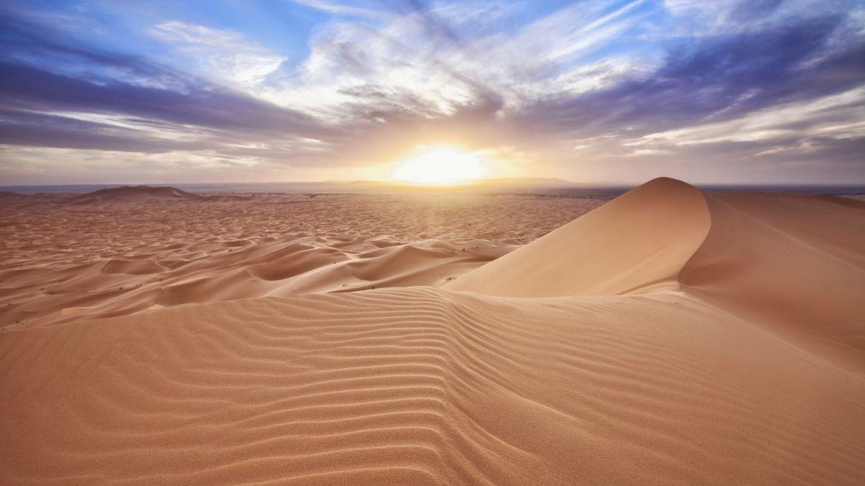 desierto sahara dunas arena sol naturaleza wallpaper
