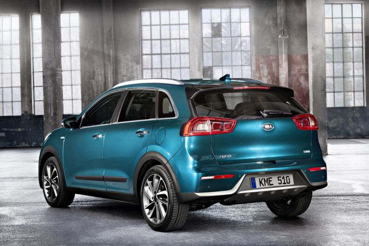 Kia Niro Hybrid cars suv blue 2016 wallpaper