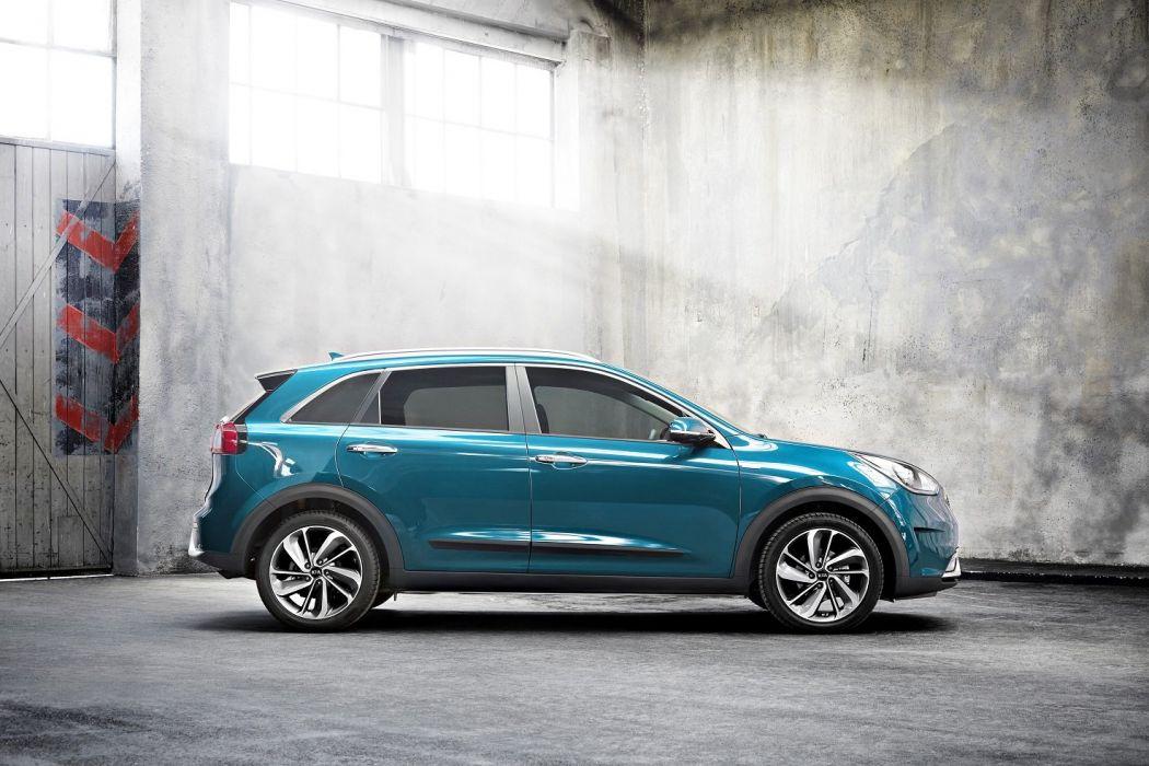 Kia Niro Hybrid cars suv blue 2016 wallpaper