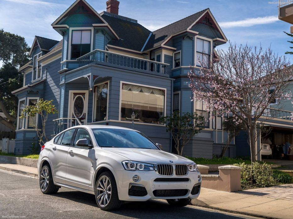 2016 BMW cars M40i white suv wallpaper