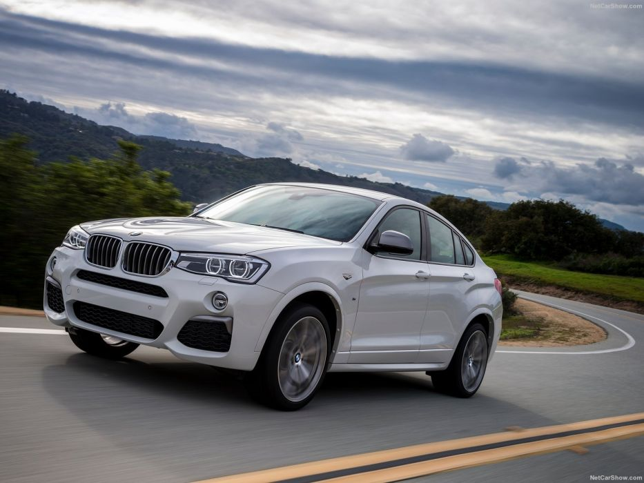2016 BMW cars M40i white suv wallpaper