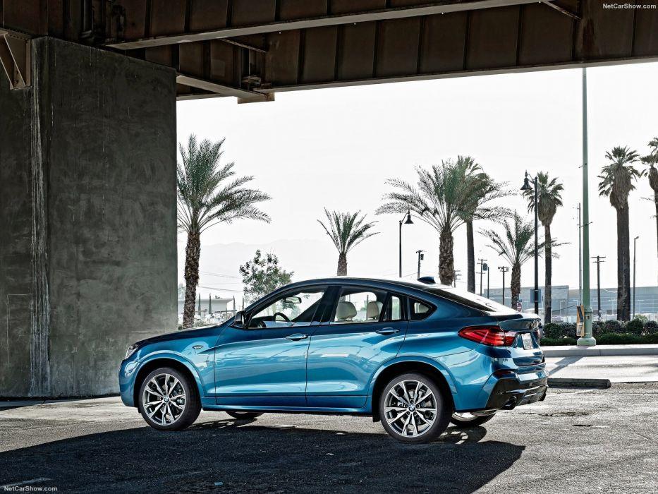 2016 BMW cars M40i blue suv wallpaper