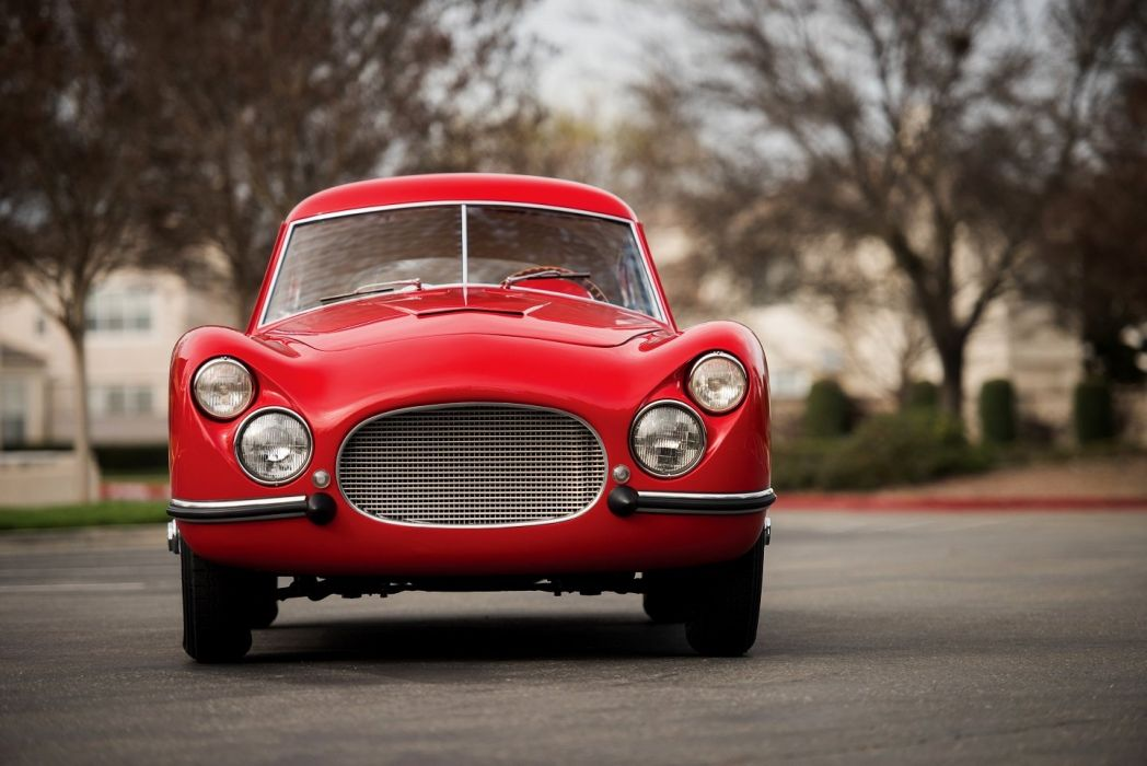 Fiat 8V coupe red 1953 cars classic wallpaper