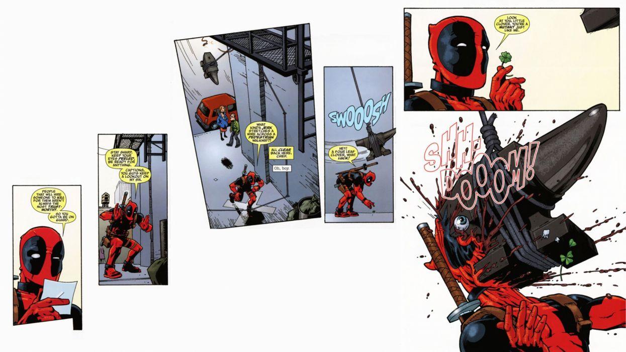 DEADPOOL marvel superhero comics hero warrior action comedy adventure poster wallpaper