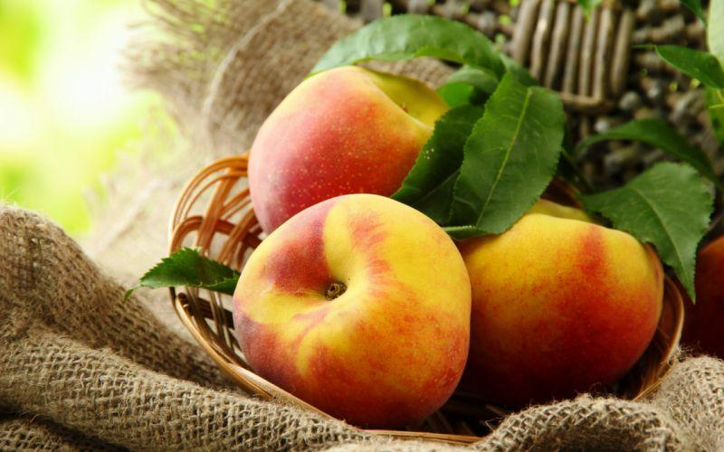 melocotones frutas naturaleza wallpaper