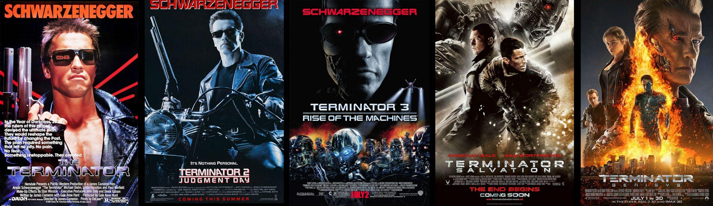 Terminator Robot Cyborg Sci Fi Futuristic Poster Wallpaper