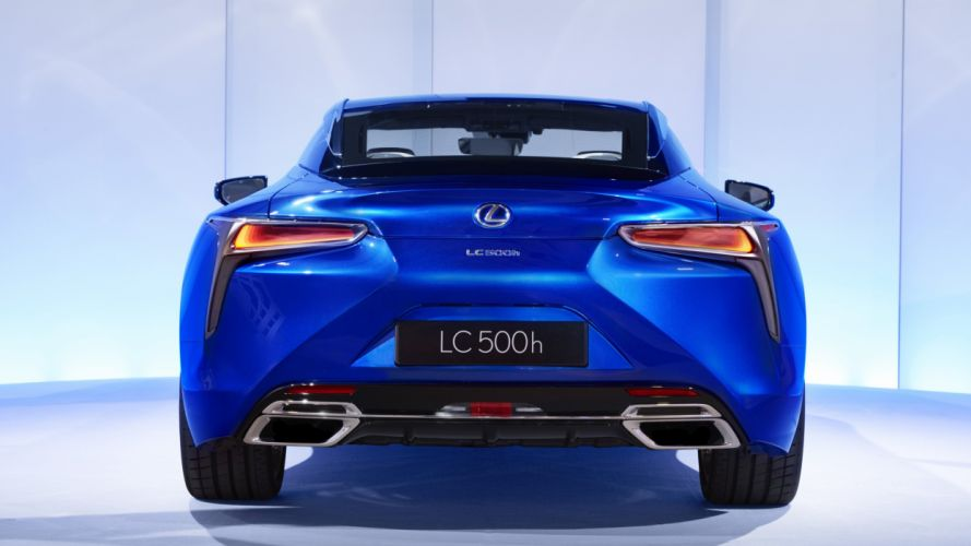 2016 Lexus LC 500h cars hybrid blue wallpaper