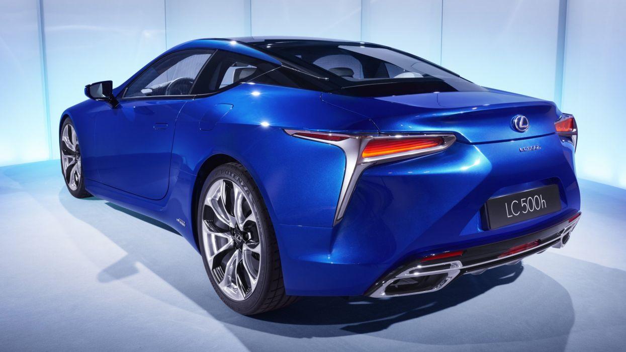 2016 Lexus LC 500h cars hybrid blue wallpaper