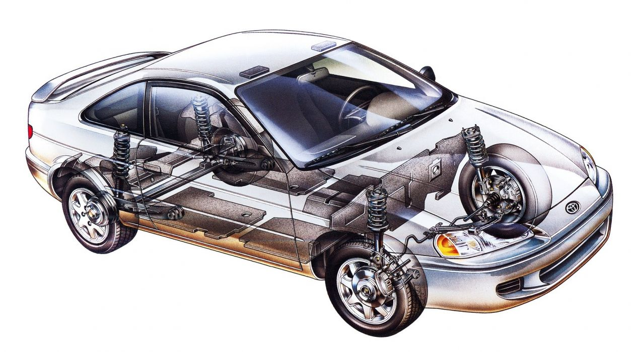 1996 Toyota Paseo cars coupe cutaway wallpaper