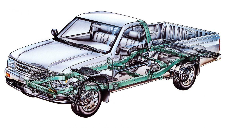 Toyota T100 Regular Cab 2WD pickup cars cutaway wallpaper