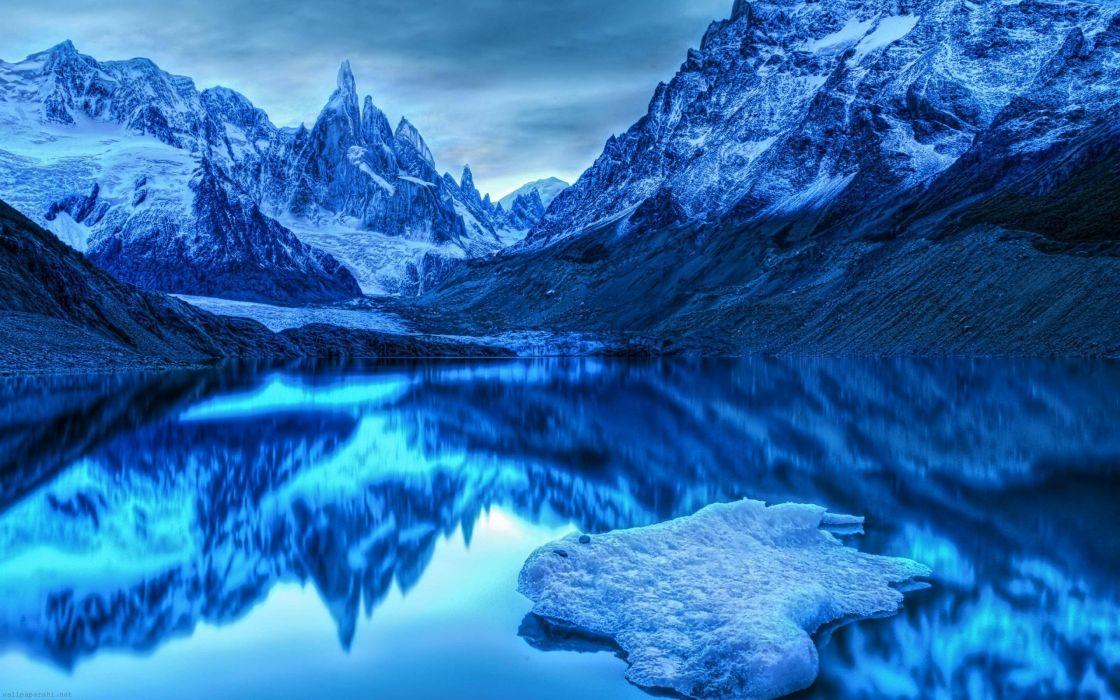 paisaje invernal naturaleza hielo lago wallpaper
