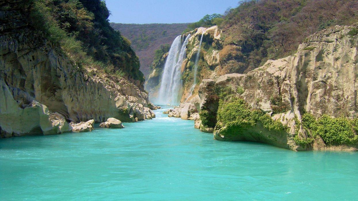 paisaje naturaleza cascada rio wallpaper