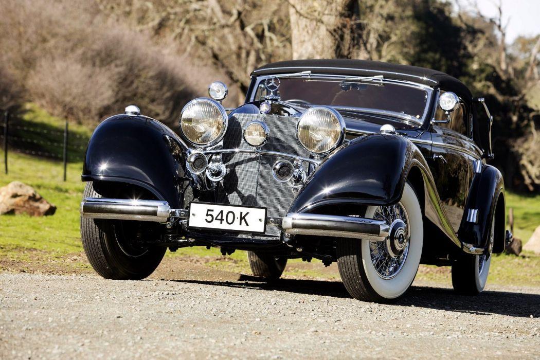 1937 Mercedes Benz 540K Cabriolet A cars classic wallpaper