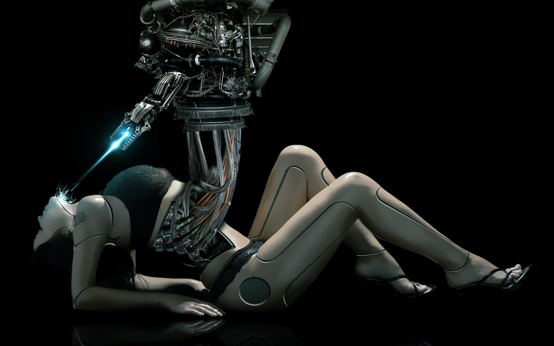 Cyborg robot sci-fi futuristic technics wallpaper ...