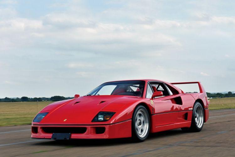 Ferrari F40 cars supercars red 1989 wallpaper