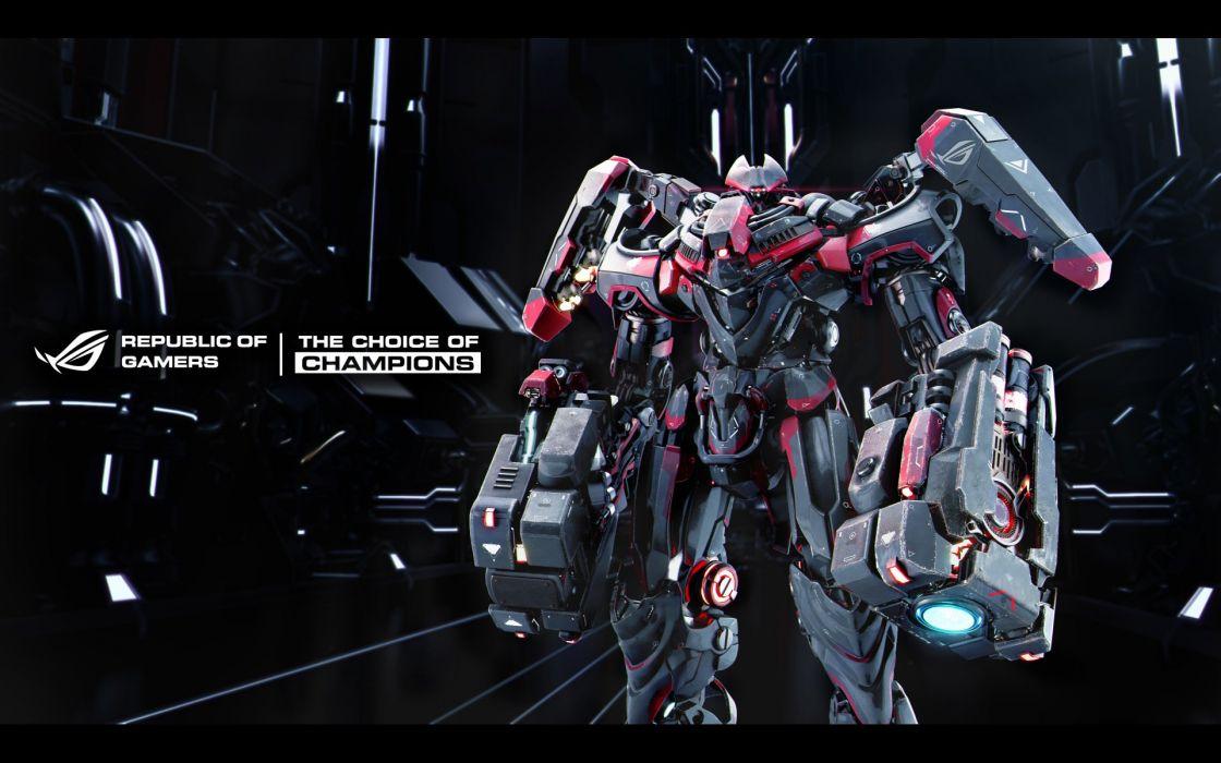 robot sci-fi futuristic technics cyborg asus computer wallpaper