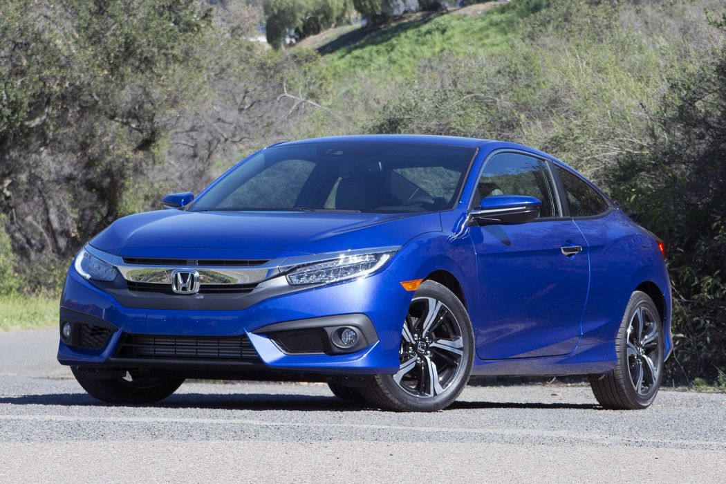 2016 Honda Civic cars blue Coupe wallpaper