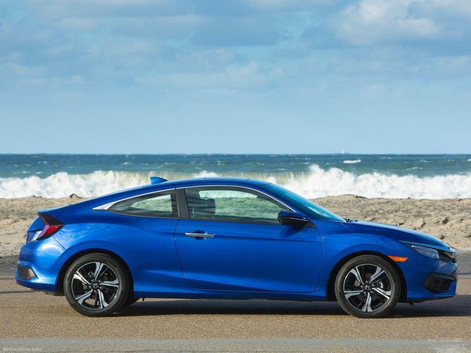2016 Honda Civic cars blue Coupe wallpaper