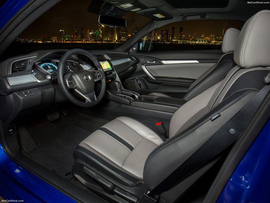 2016 Honda Civic cars blue Coupe interior wallpaper