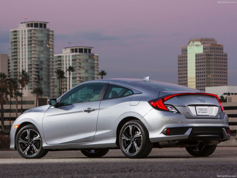 2016 Honda Civic cars silver Coupe wallpaper