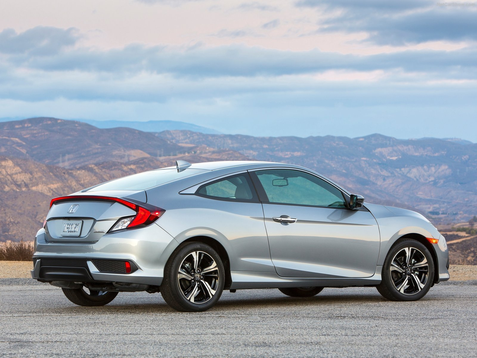 2016 Honda Civic Cars Silver Coupe Wallpaper 1600x1200