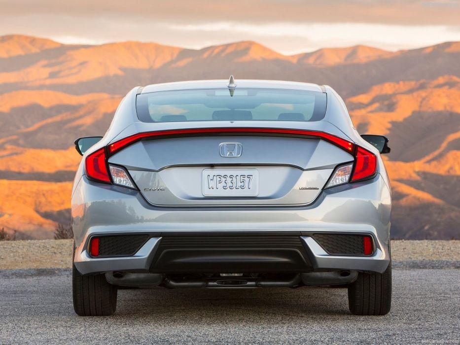 2016 Honda Civic cars silver Coupe wallpaper
