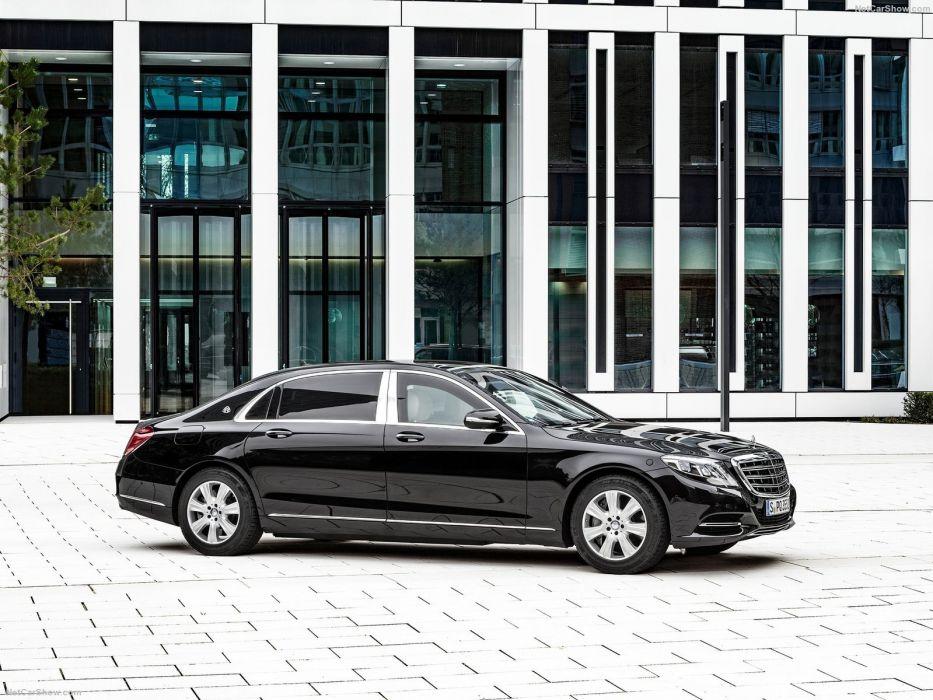 Mercedes Benz S600 Maybach Guard cars limo 2016 black wallpaper
