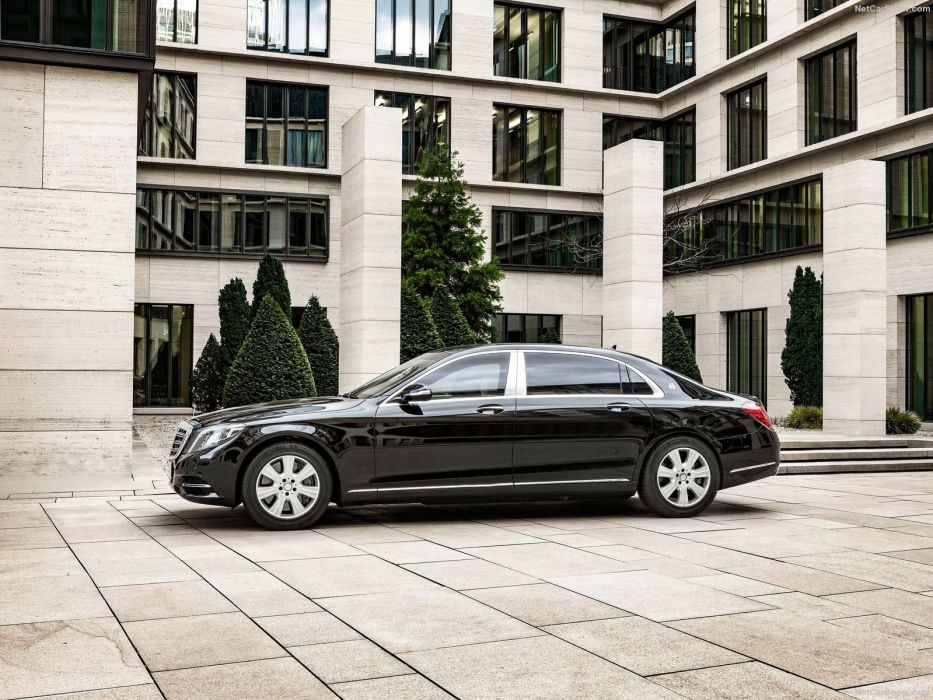 Mercedes Benz S600 Maybach Guard cars limo 2016 black wallpaper