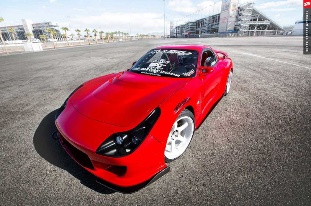 1993 Mazda RX-7 Widebody cars red modified wallpaper