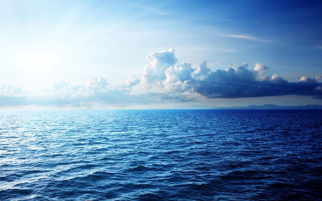oceano agua nubes cielo naturaleza wallpaper