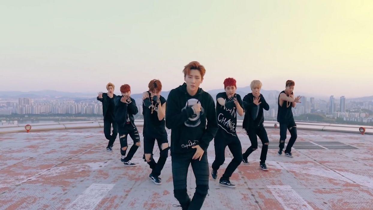 Monsta x Kpop Hero Rooftop wallpaper