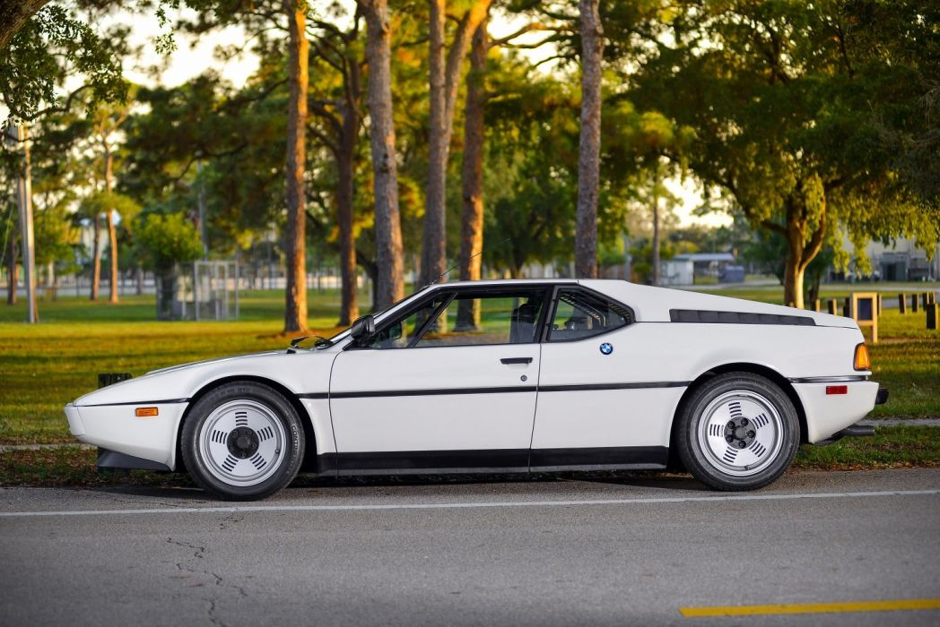 BMW M1 US-spec (E26) cars coupe white 1978 wallpaper