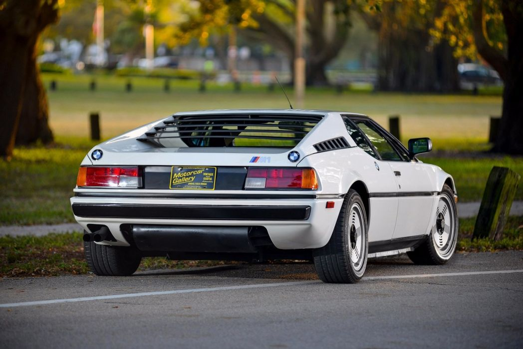 BMW M1 US-spec (E26) cars coupe white 1978 wallpaper