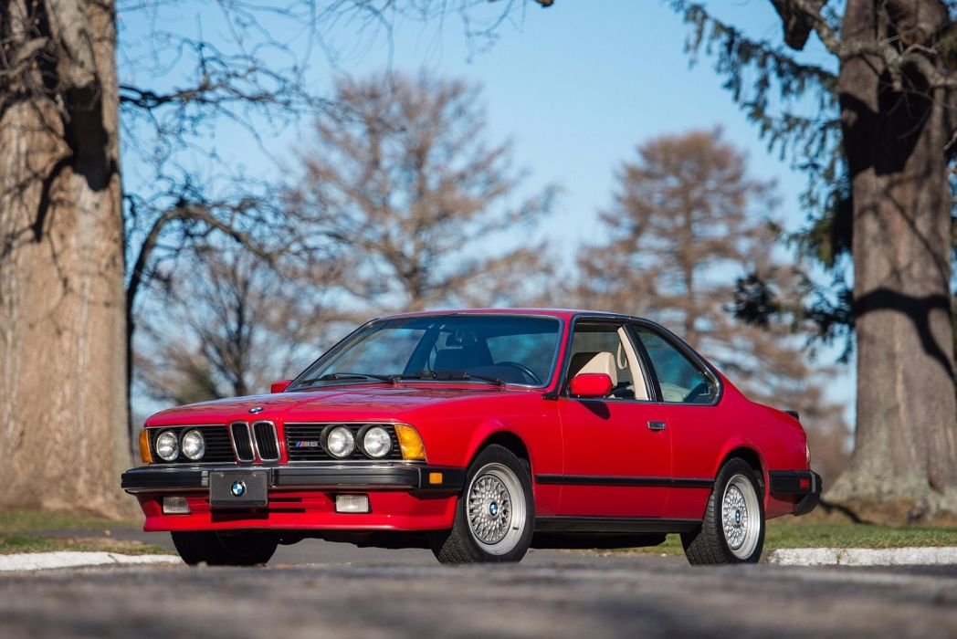 BMW M6 (E24) cars red coupe 1986 wallpaper