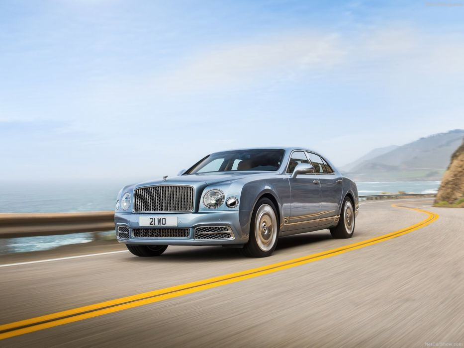 Bentley Mulsanne cars luxury sedan blue 2016 wallpaper
