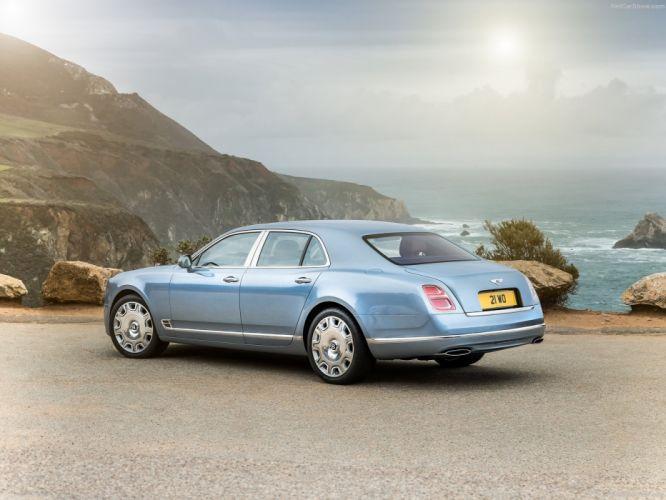 Bentley Mulsanne cars luxury sedan blue 2016 wallpaper